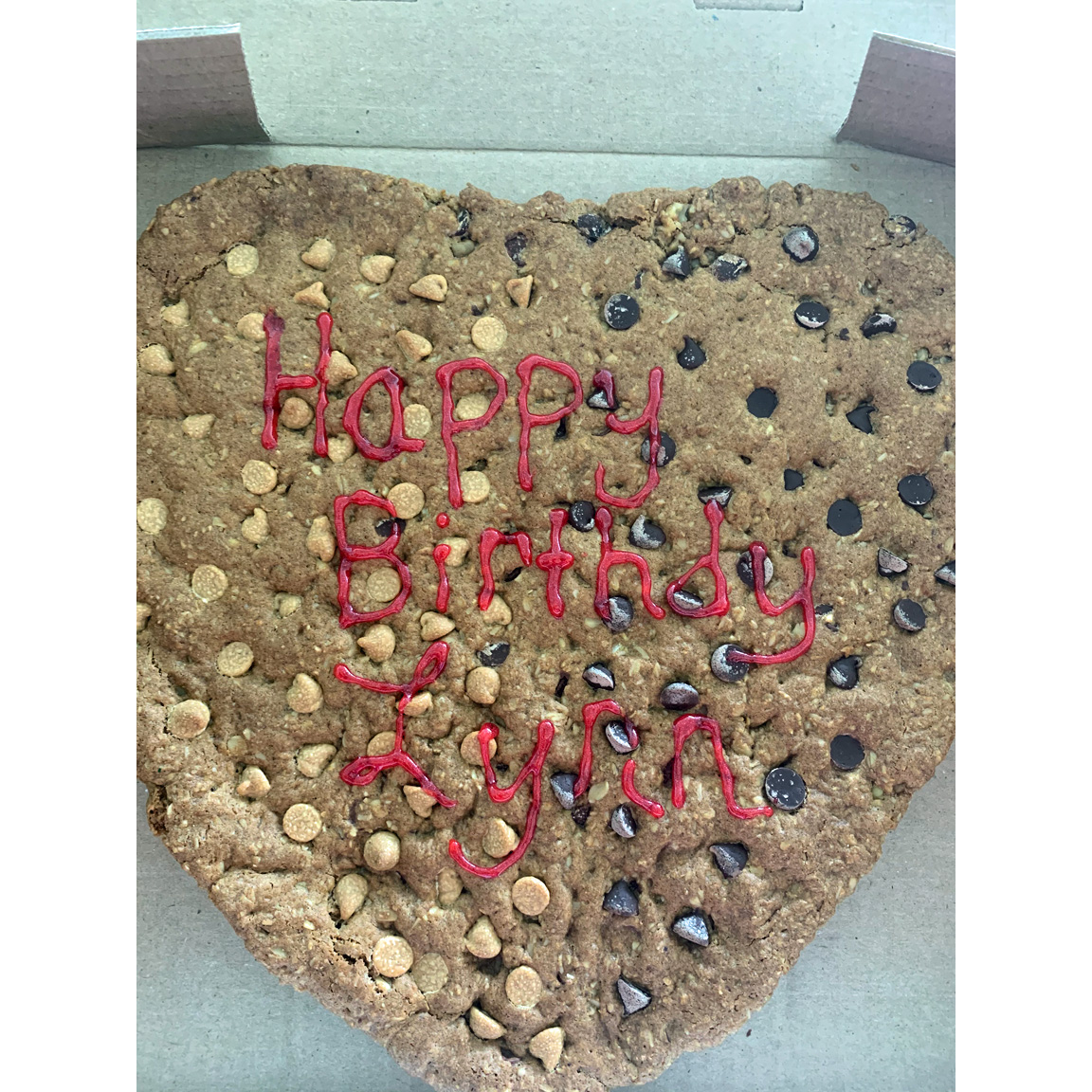 giant gluten-free personalized cookie